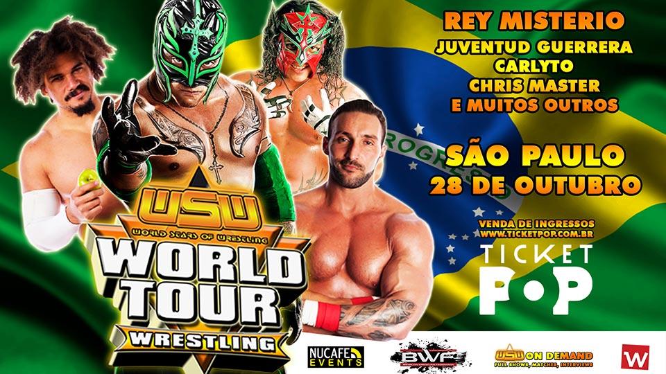 Rey Mysterio estará no Brasil junto com a WSW e BWF; Parceria da BWF é anunciada