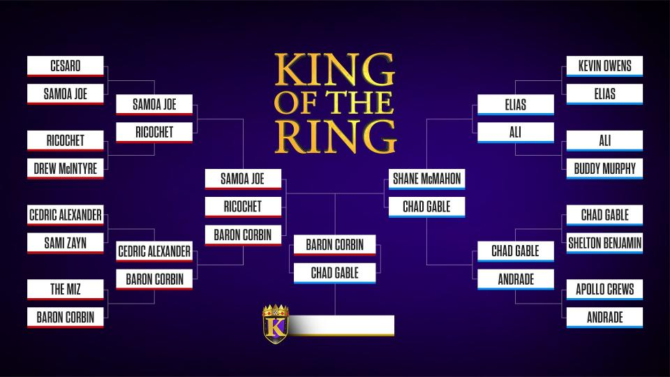 Final do King of the Ring agendada para o próximo WWE Raw