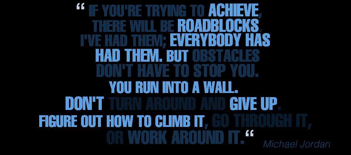 Citação de Michael Jordan sobre Obstáculos