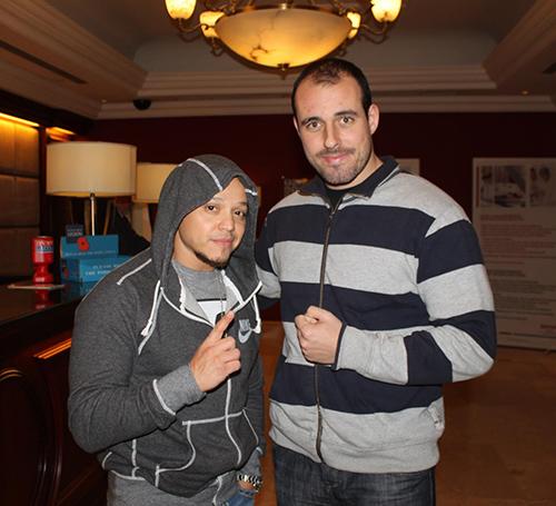 Com Rey Mysterio Jr, uma enorme inspiração pessoal