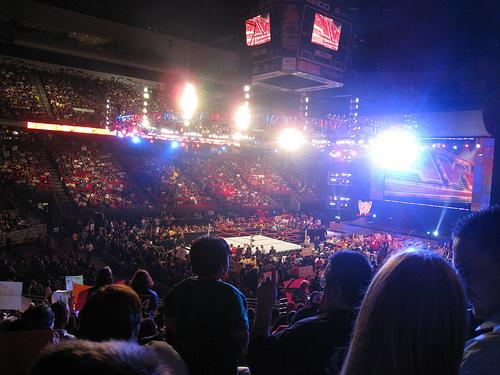 O público no Raw